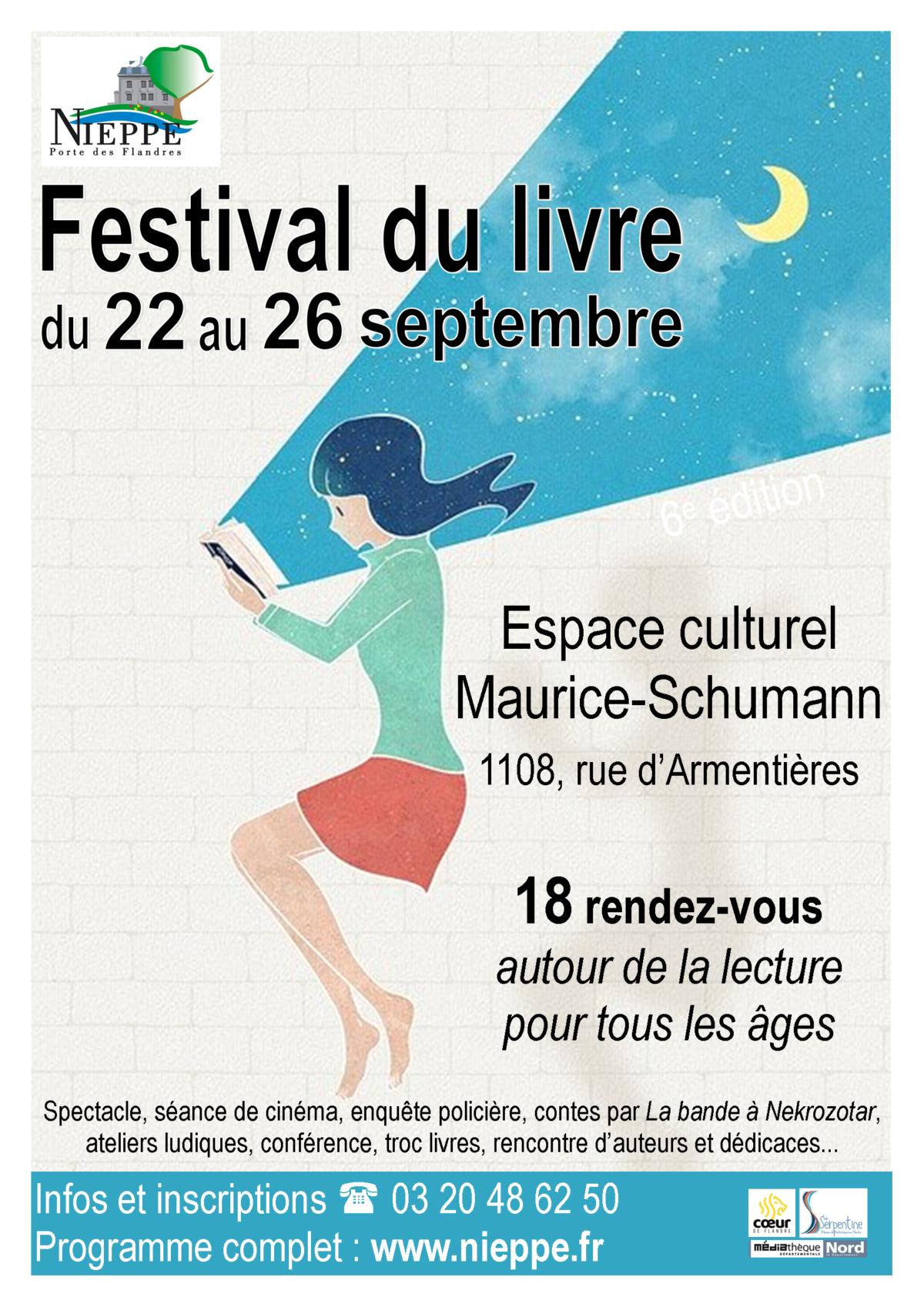 Festival du livre du 22 au 26 septembre