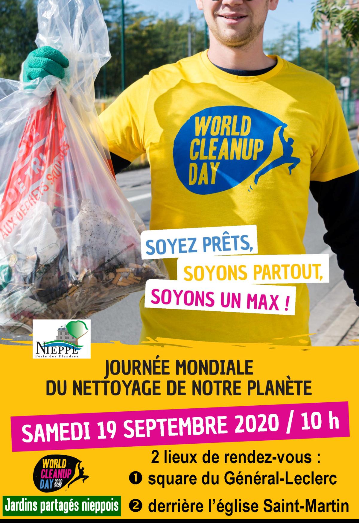 Les Jardins partagés nieppois et la ville de Nieppe participent au World CleanUp Day